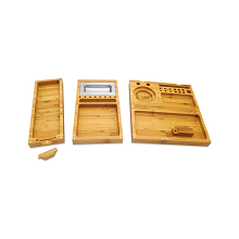 RAW Triple Flip Bamboo Rolling Tray