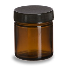 Small Glass Amber Storage Jar