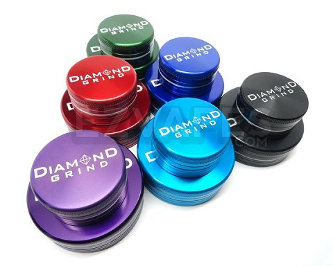 Colored Extra Large 2 Piece Diamond Grind Grinder 75mm