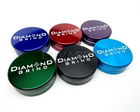Colored 2 Piece Medium Diamond Grind Grinder 56mm