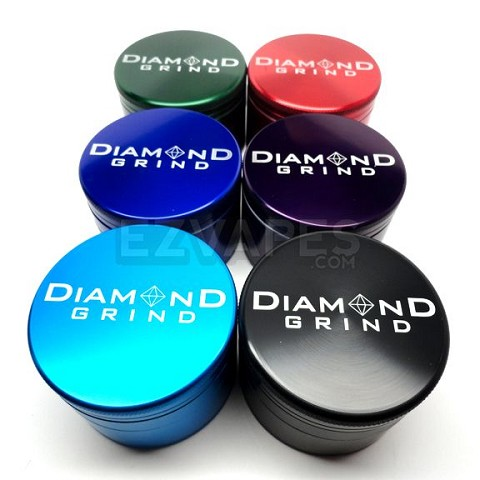 Colored Large 4 Piece Diamond Grind Grinder 62mm