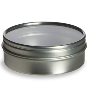 Clear Top ABV Tin Round Small