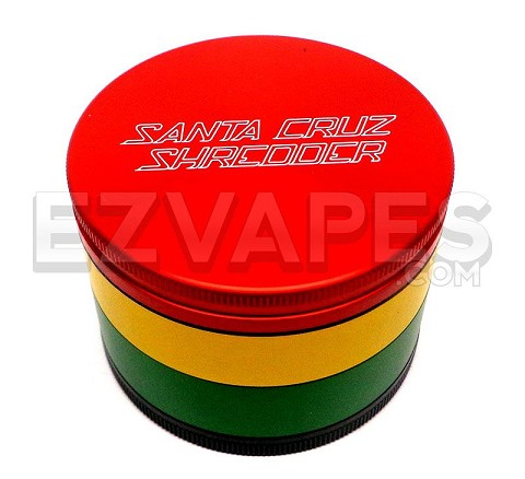 4 Piece Large Santa Cruz Shredder Rasta Grinder 70mm