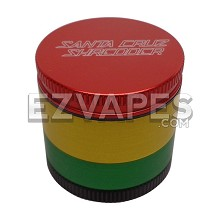 4 Piece Medium Santa Cruz Shredder Rasta Grinder 53mm