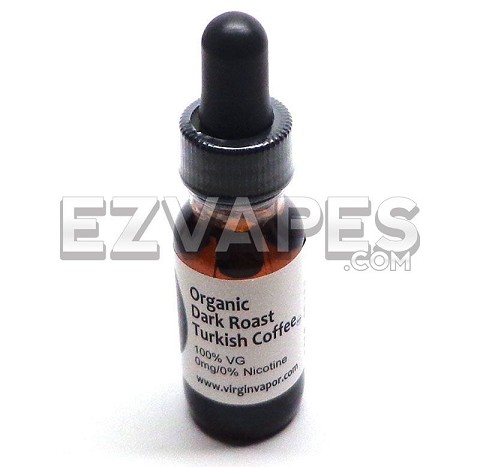 Dark Roast Turkish Coffee Virgin Vapor Absolute Organic E-Juice
